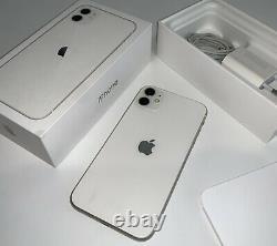 IPhone 11 Très Bon Etat Blanc 128 Go Désimlocké Chargeur Dock Boite