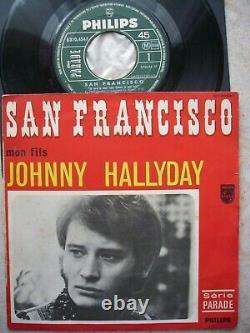 Johnny hallyday tres rare sp original 370454 san françisço tres bon etat