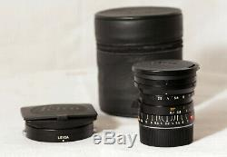 Leica 24 mm 2.8 Elmarit-M ASPH (11878) + Hood (12592) Très bon état
