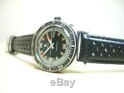 Lip Nautic 3 Montre Vintage Plongee 1970's Tres Bon Etat Old Diver Watch Acier