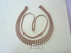 Lot de deux gros colliers anciens en or 18 carats en très bon état