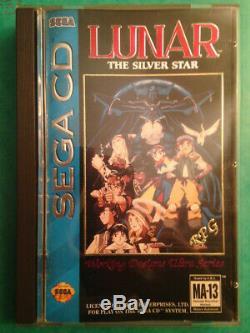 Lunar The Silver Star Sega Cd (Mega Cd US) très bon état complet