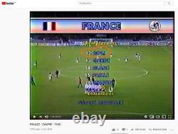 Maillot Porté Equipe de France Basile Boli 1989. Très bon état. RARE