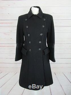 Manteau noir double boutonnage Christian Lacroix en très bon état, taille 38