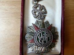 Médaille Ordre Du Nichan Iftikhar Commandeur 1906/1922 En Argent Trés Bon État