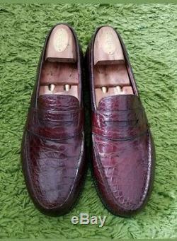 Mocassins hommes en cuir crocodile JM Weston 9D (43) en très bon état
