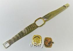 Montre FEMME OMEGA en OR jaune 18 K très bon état, mécanique, 51,20 gr GOLD
