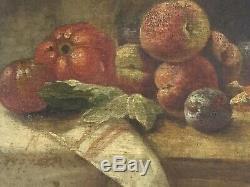 Nature Morte Aux Fruits. Ancienne. Restaurée. Très Bon État