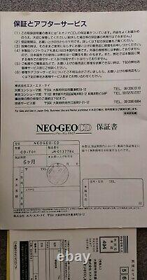 Neo Geo CD NTSC Console Serial matching Très bon état / Very good condition