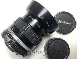 Nikkor 35mm f2 Ai-S Pour Nikon +pare-soleil Hn-3+bouchons Nikon. Très Bon État