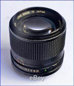 OBJECTIF CANON FD 85mm 11,8 TRES BON ETAT
