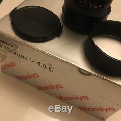 Objectif Mamiya 7 N 150 mm f/4.5L entièrement révisé et réglé, en très bon état