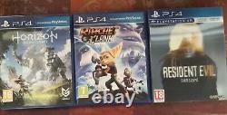 PS4 Pro noire 1 To + 3 jeux Garantie Très bon état