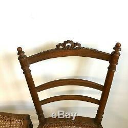 Paire de chaise cannées fin XIX très bon état