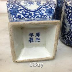 Paire de pot couvert Chine Chinese Kangxi époque 19 ème en très bon état