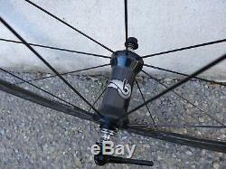 Paire de roues route Campagnolo Bora One 35 Carbone Boyaux Très Bon Etat