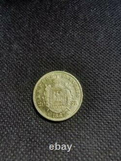 Pièce- Napoléon III 20 francs Or tête laurée 1867 Très bon état