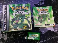 Pokémon version Emeraude GBA Boite et Notice Très bon état