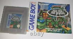 RARE! Ninja Turtles 2 Back From The Sewers Pal FAH Game boy. Très bon état