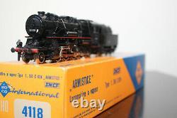 ROCO Loco vapeur 150C824 SNCF Réf 4118 Très bon état Vrai charbon BO Echelle HO