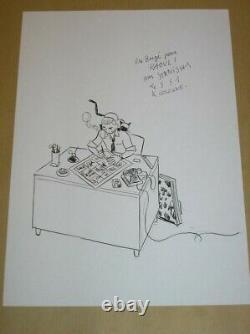Rare Dessin Original / Hergé Signé Stanislas / Tres Bon Etat