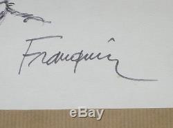 Rare Dessin Original / Jules De Chez Smith Signe Franquin / Tres Bon Etat