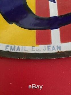 Rare Plaque Emaillée Double Face Fly-tox 1931 Tres Bon Etat Voir Photo