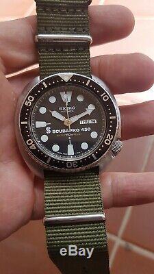 Rare seiko divers turtle 6309-7040 scubapro 450 de 07/84 tres bon etat
