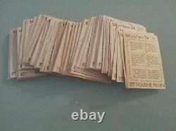 Rare set complet 400 stickers Panini München 74, 100% originaux en très Bon état