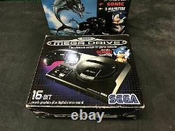 SEGA Megadrive Console Pack ecco The Dolphin + Sonic PAL Très Bon état