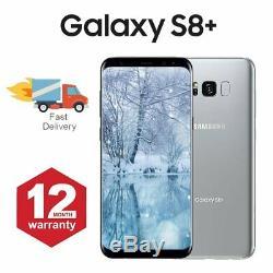 Samsung Galaxy S8 + Plus téléphone mobile Android 64 Go argent Très Bon Etat