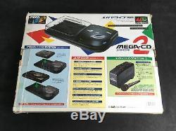 Sega Mega CD 2 Boite Vide + Cale + Accessoires JAP Très Bon état
