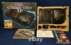 Sega Mega CD II region free en boîte avec manuel & 2 jeux Très bon état