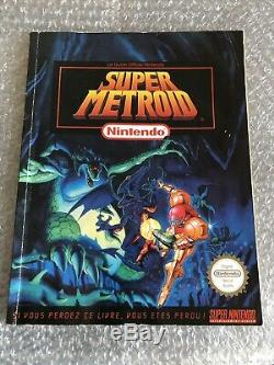 Super Metroid + Guide Officiel / Super Nintendo / Tres Bon Etat Version FR FAH
