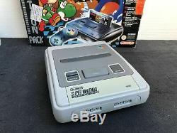 Super Nintendo Console Pack Super Mario World 2 Yoshi's Island PAL Très Bon état