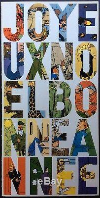 TINTIN Carte de voeux 1965 Signée Hergé Très bon état