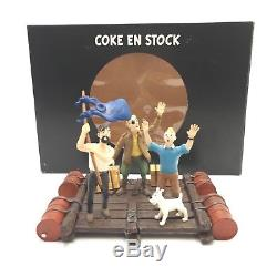 TINTIN FIGURINE SCENE COKE EN STOCK MOULINSART très BON ETAT