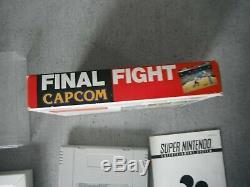 TRES RARE! Final fight / en boite / super nintendo / PAL FAH / bon état