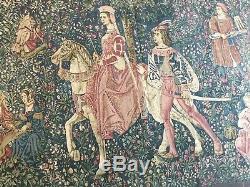 Tapisserie murale ancienne XVIe siècle dAubusson 198 cm/140 cm Très Bonne État