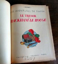 Tintin Herge Le Tresor De Rackham Le Rouge Eo A24 Blanc Tres Bon Etat