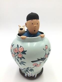 Tintin milou potiche lotus bleu images mythiques certificat boite très bon état