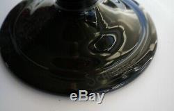 Vase schneider lava sur pied noir 1920/30 très bon état art déco signé 29cm